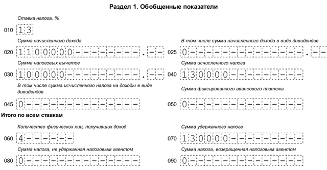 6-НДФЛ за 9 месяцев 2018 года: скачать бланк и образец заполнения, как правильно заполнить форму расчета за 3 квартал, строка 070, как отразить отпускные?