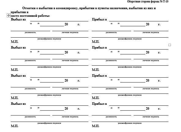 Командировочный лист: бланк, скачать образец заполнения при направлении работник в командировку