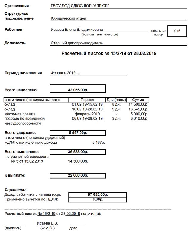 Приказ об утверждении расчетного листка по заработной плате: образец оформления, как и кто утверждает форму листа по зарплате для выдачи сотрудникам?