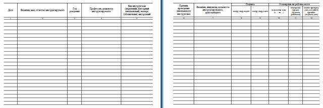 Журнал первичного инструктажа на рабочем месте: скачать образец, порядок регистрации инструктирования работников по охране труда