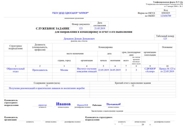 Отчет о командировке: пример написания о выполнении командировочного задания в кратком виде, образец в свободной форме